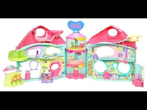 littlest pet shop house biggest littlest pet shop house playset review and pet shopping youtube