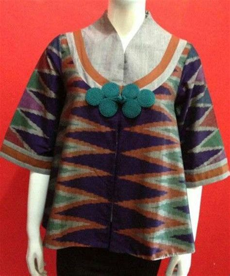 Chintya 3 Blouse Bordir model baju batik kerja wanita 2015 model baju terbaru models