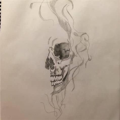 smoke skull tattoo designs skull and smoke sketches pictures to pin on