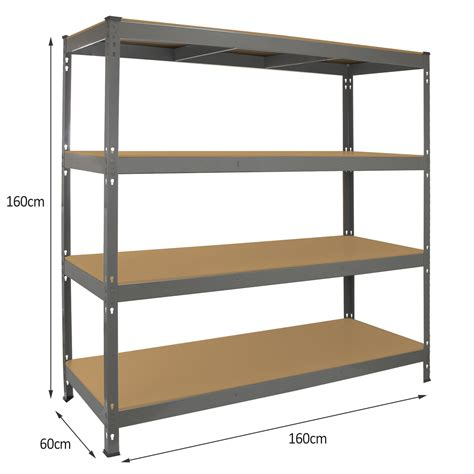 metal garage shelving garage racking heavy duty shelving 4 tier unit boltless steel bay metal shelves ebay