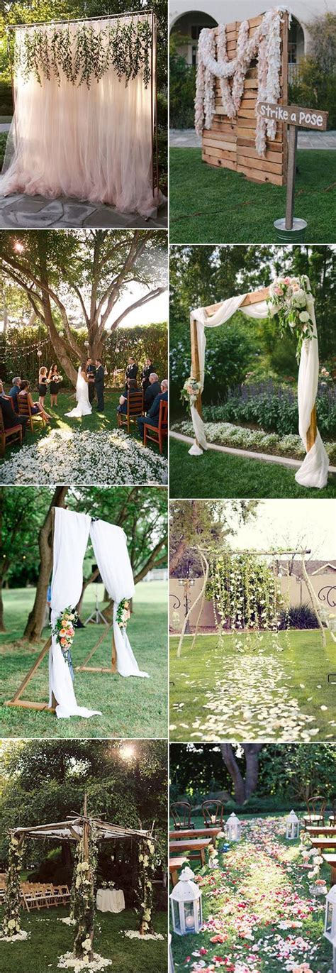 backyard wedding ceremony ideas 30 sweet ideas for intimate backyard outdoor weddings