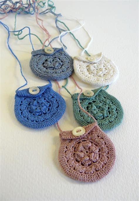 crochet jewelry bag pattern tiny crochet keepsake necklaces 183 a knit or crochet