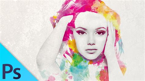 tutorial watercolor di photoshop watercolor girl multiple exposure effect photoshop