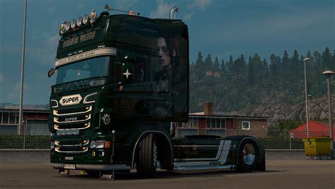 scania rjl green skin mod ets2 truck simulator