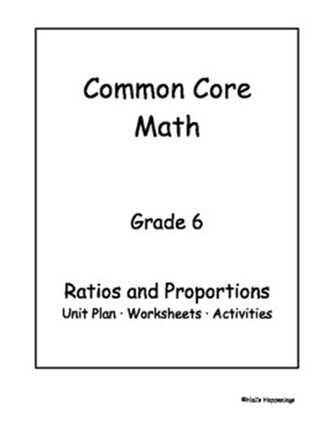 6th Grade Math Ratios And Rates Worksheets by 6th Grade Common Math Ratios And Proportional