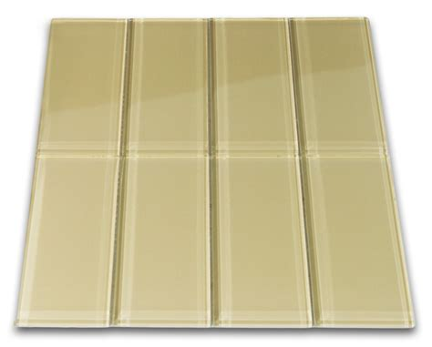 subway tiles khaki glass subway tile 3x6 for backsplashes showers