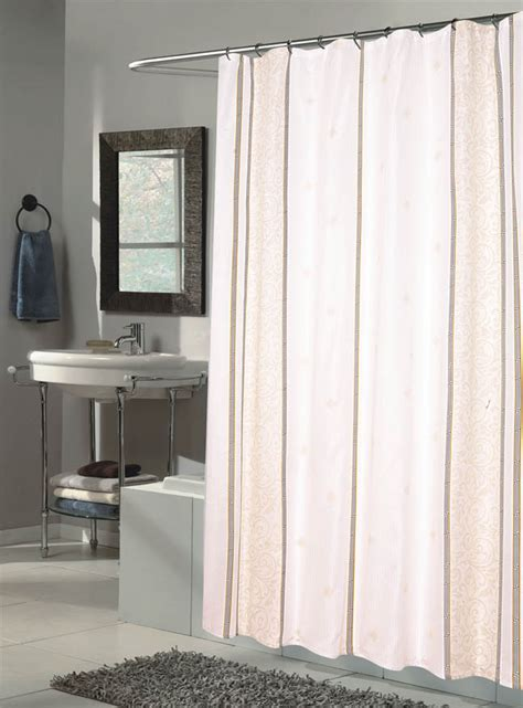 x long shower curtain carnation home fashions inc extra long fabric shower