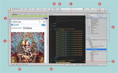 barra de herramientas superior illustrator informaci 243 n general sobre el espacio de trabajo de dreamweaver