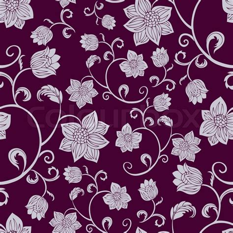 pattern fabric retro abstract background with flowers fashion seamless pattern