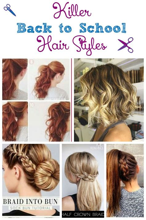 Easy Hairstyles For School Mornings by Killer Back To School Hair Styles For