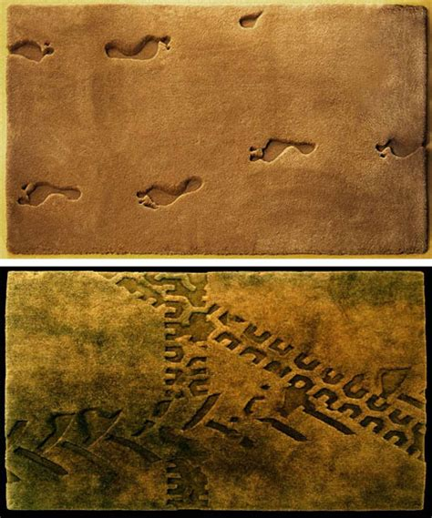 footprint rug 21 radical rugs and must see modern mat designs urbanist