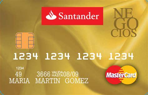 tarjeta de credito banco santander tarjeta santander negocios para empresarios y aut 243 nomos
