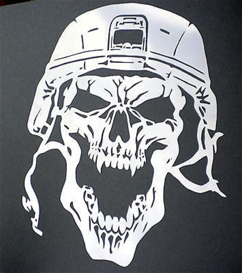 skull template airbrush high detail airbrush stencil army skull 8 free uk postage