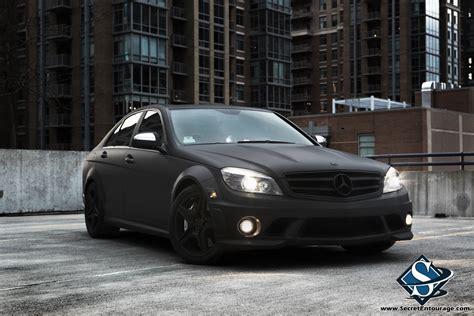 mercedes matte black flat black mercedes c63 amg secret entourage