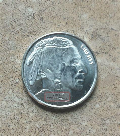 1 Troy Oz 999 Silver Indian Buffalo Bar - 1 10th troy oz 999 silver buffalo indian nickel