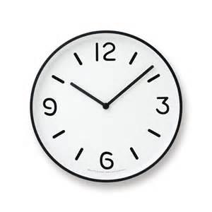 mono wall clock in white design by lemnos burke decor