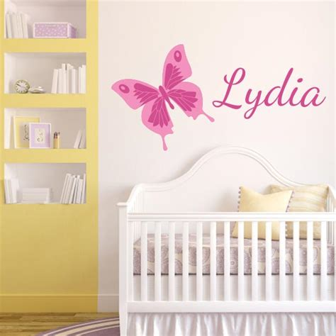 pink butterfly wall stickers pink printed butterfly with name wall decal wall decal world