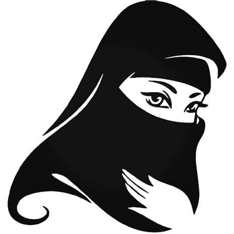 pretty woman veil hijab muslim vinyl decal sticker