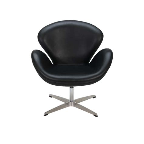 Mid Century Modern Home Decor by Arne Jacobsen Swan Chair Black Formdecor
