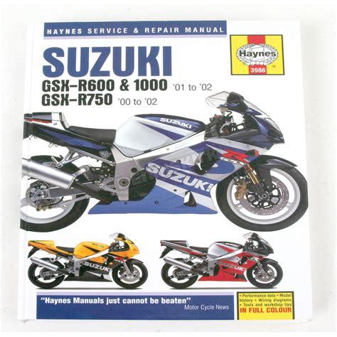 Suzuki Motorcycle Manual Haynes Suzuki Motorcycle Repair Manual 3986 Sport Bike