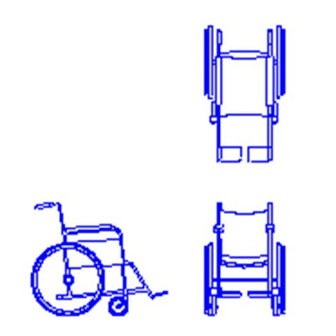 sedia a rotelle dwg sedia a rotelle wheelchair in dwg blocchiautocad it