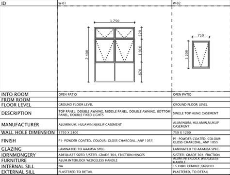 How To Door Window Schedules Using The Interactive Schedule Graphisoft Archicad Window And Door Schedule Template