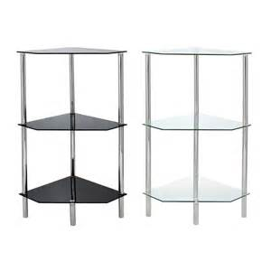glass corner shelf shelving unit display bathroom end