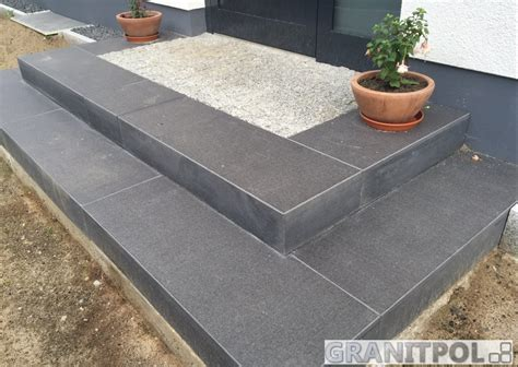 garten treppenstufen setzen blockstufen aus granit granitpol de