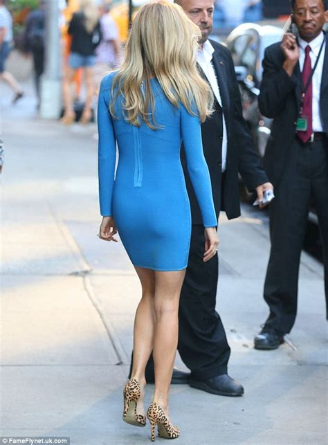 back legs giving out kristin cavallari displays trim frame in a skintight blue dress for gma