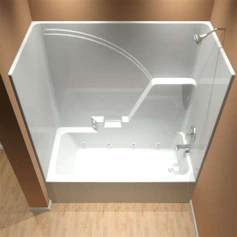 one piece bathtub shower t 723781 r l wp8 diamond tub showers