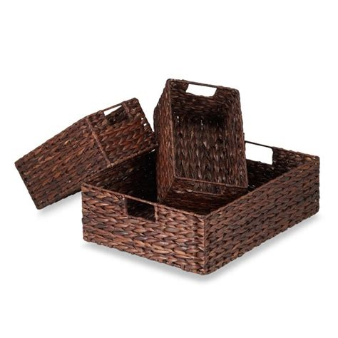 bed bath and beyond baskets rush baskets set of 3 bed bath beyond 19 99 bath
