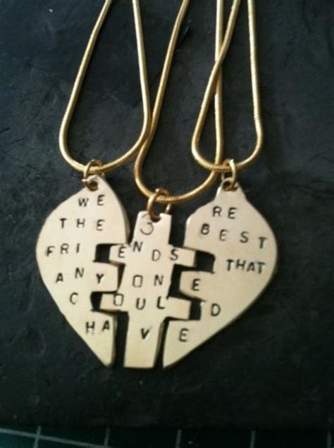 three best friends necklace crafts and ideas