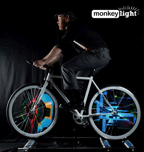 lights on wheels of a bicycle monkey light bike lights