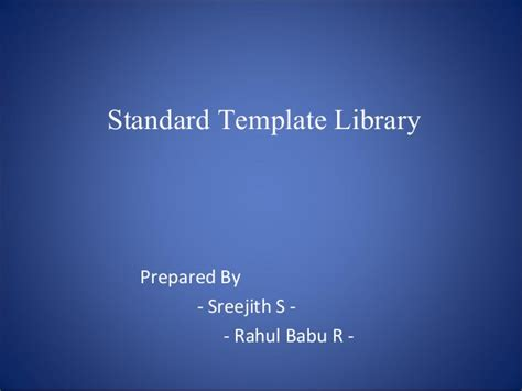 c standard template library standard template library stl in c