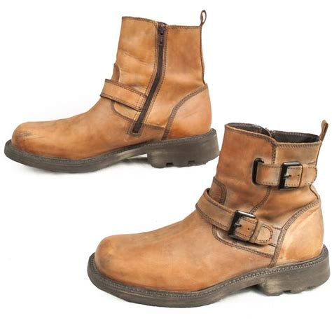 over the ankle boots for motorcycle aldo motorcycle boots bikerboots ankle mens 41 8 buckles