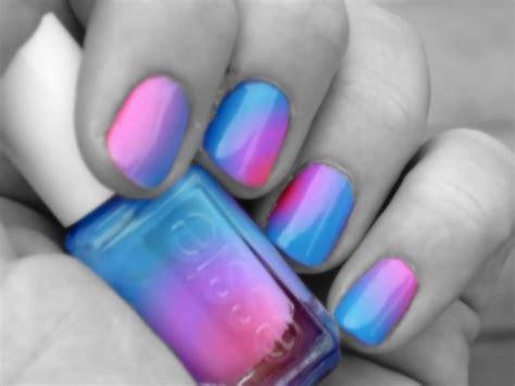 cool red nail color blend blue essie nail polish image 626932 on favim com