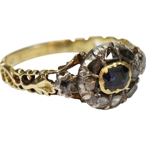 antique georgian sapphire ring from