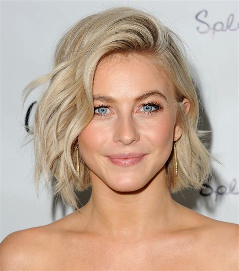 short haircuts to make face look longer julianne hough