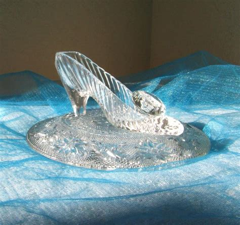 glass slipper centerpiece cinderella glass slipper with oleg cassini glass
