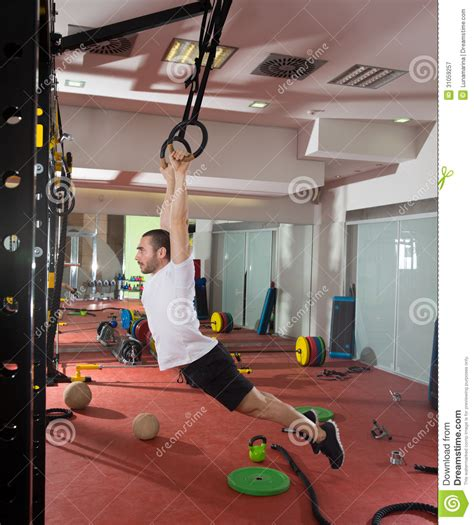 dip dip and swing crossfit fitness dip ring swing exercise man workout