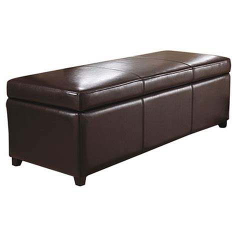 large storage ottoman simpli home avalon large rectangular storage ottoman