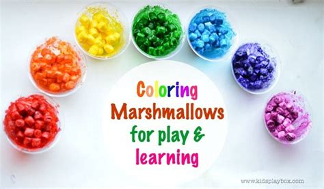 how to color marshmallows colored marshmallows for play and learning littles