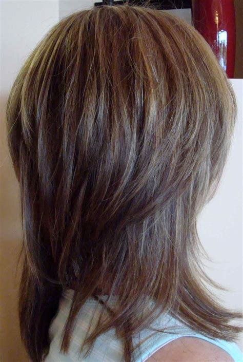 Hairstyles For To Medium Hair by Layered Haircuts Back View Wavy Lucyh Info