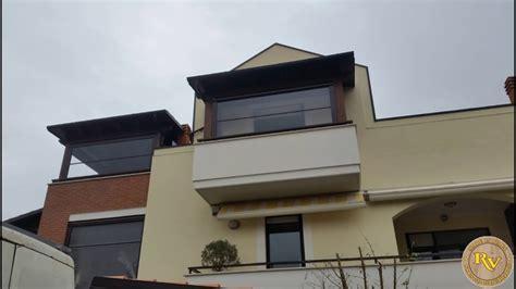 tettoie per balconi in legno copertura balcone in legno