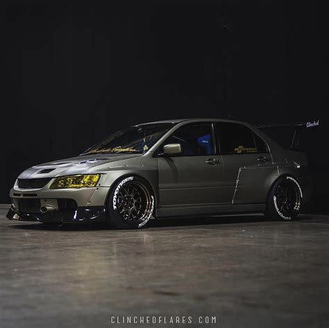 widebody evo clinched widebody kit evolutionm mitsubishi lancer and