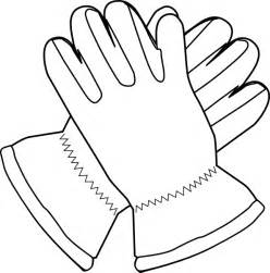 Gloves Outline Clip Art At Clkercom  Vector Online Royalty sketch template