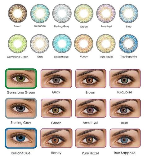 colored lenses freshlook color contacts 12 colors color contacts