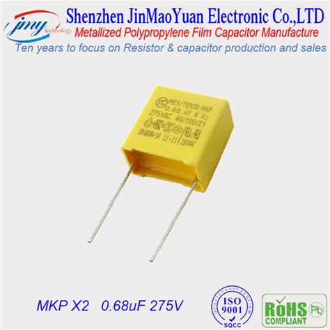 capacitor type x2 275v polypropylene capacitor ac motor capacitors from shenzhen jinmaoyuan technology co