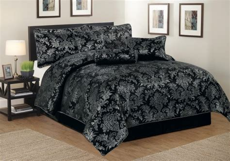 black and silver comforter sets luxurious 7pcs quilted bed spread set comforter set
