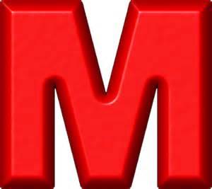 To M Presentation Alphabets Refrigerator Magnet M